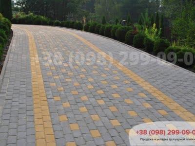Тротуарная плитка Кирпич 200х100 Серыйфото 18