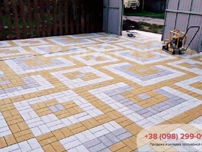 Тротуарная плитка Кирпич 200х100 Серыйфото 20