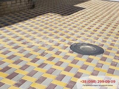 Тротуарная плитка Кирпич 200х100 Серыйфото 22
