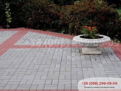 Тротуарная плитка Кирпич 200х100 Сераяфото 15