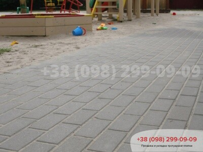 Тротуарная плитка Кирпич 200х100 Сераяфото 11