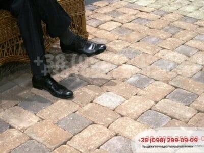 Тротуарная плитка Кирпич 240х160х90 Антик Коричневыйфото 8