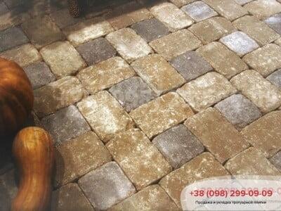 Тротуарная плитка Кирпич 240х160х90 Антик Коричневыйфото 10