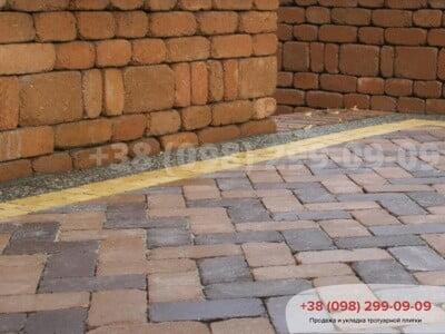Тротуарная плитка Кирпич 200х100 Антик Коричневаяфото 5