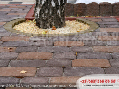 Тротуарная плитка Кирпич Антик 240х160фото 6