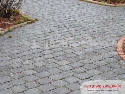 Тротуарная плитка Кирпич Антик 240х160, квадрат Антик 160х160фото 1