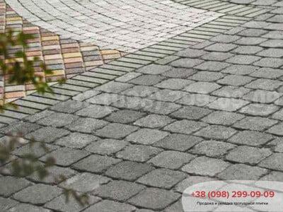 Тротуарная плитка Кирпич Антик 240х160, квадрат Антик 160х160фото 2