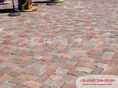 Тротуарная плитка Кирпич Антик 240х160, квадрат Антик 160х160фото 3