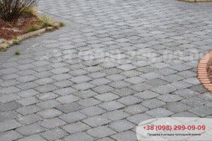 Серый Тротуарная плитка Кирпич Антик 240х160, квадрат Антик 160х160