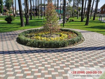 Тротуарная плитка Кирпич Белыйфото 8