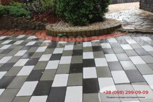 Черный Тротуарная плитка Кирпич без фаски черная