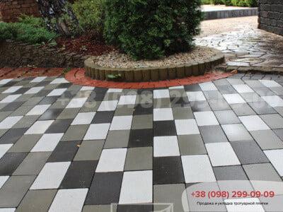 Тротуарная плитка Кирпич без фаски чернаяфото 1