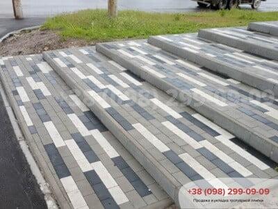 Тротуарная плитка Кирпич без фаски чернаяфото 3