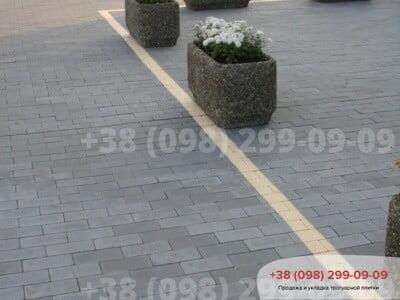 Тротуарная плитка Кирпич без фаски чернаяфото 4