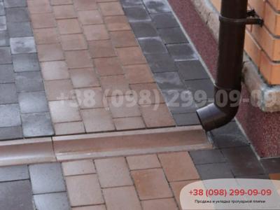 Тротуарная плитка Кирпич без фаски Коричневыйфото 3