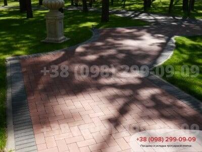 Тротуарная плитка Кирпич без фаски Краснаяфото 10
