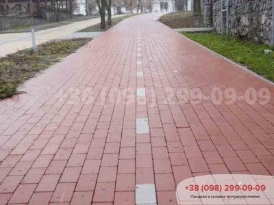 Тротуарная плитка Кирпич без фаски Краснаяфото 3