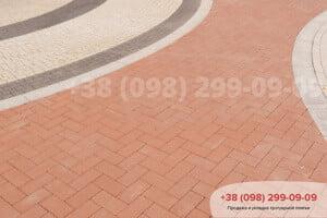 Красный Тротуарная плитка Кирпич без фаски Красная