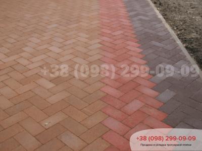 Тротуарная плитка Кирпич без фаски Красныйфото 15