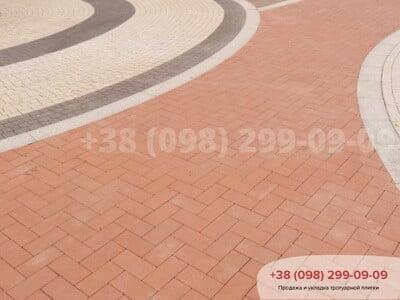 Тротуарная плитка Кирпич без фаски Красныйфото 1