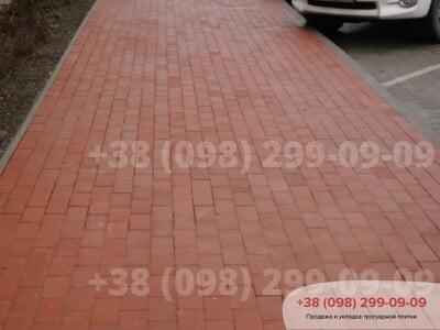 Тротуарная плитка Кирпич без фаски Красныйфото 6