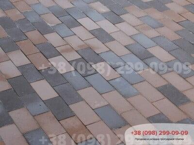 Тротуарная плитка Кирпич без фаски Персикфото 4