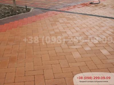 Тротуарная плитка Кирпич без фаски Персикфото 1