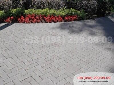 Тротуарная плитка Кирпич без фаски Сераяфото 3