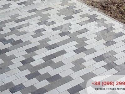 Тротуарная плитка Кирпич без фаски Сераяфото 7