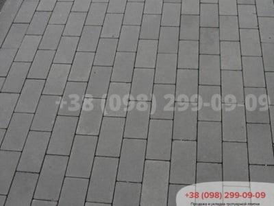 Тротуарная плитка Кирпич без фаски Сераяфото 1
