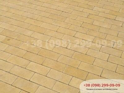 Тротуарная плитка Кирпич без фаски Желтаяфото 10