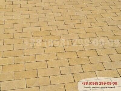 Тротуарная плитка Кирпич без фаски Желтаяфото 12