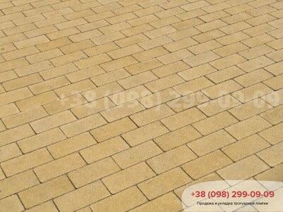 Тротуарная плитка Кирпич без фаски Желтаяфото 13