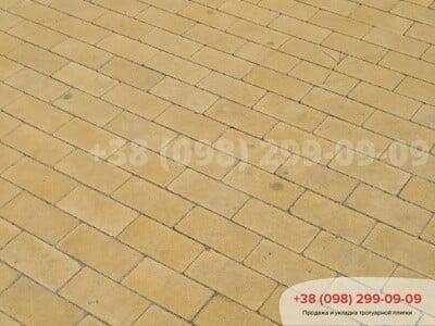 Тротуарная плитка Кирпич без фаски Желтаяфото 14