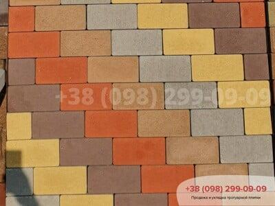 Тротуарная плитка Кирпич без фаски Желтаяфото 2