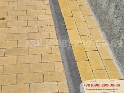 Тротуарная плитка Кирпич без фаски Желтаяфото 6