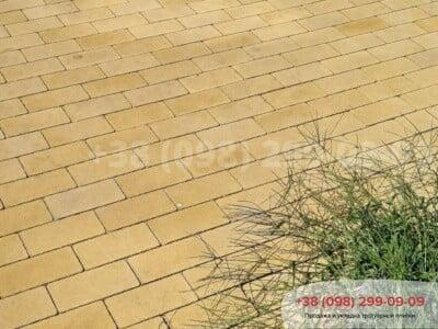 Тротуарная плитка Кирпич без фаски Желтаяфото 3