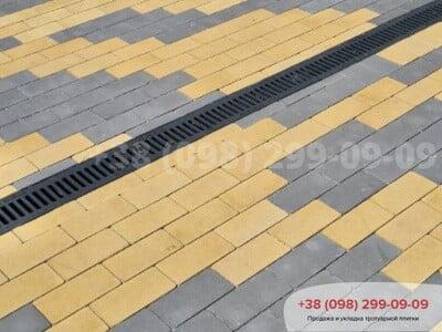 Тротуарная плитка Кирпич без фаски Желтаяфото 7