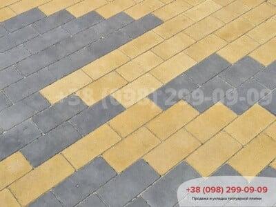 Тротуарная плитка Кирпич без фаски Желтаяфото 8