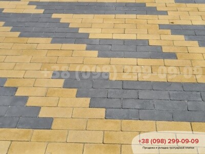 Тротуарная плитка Кирпич без фаски Желтаяфото 9