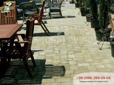 Тротуарная плитка Кирпич Большой Антик 240х160 Горчичныйфото 4