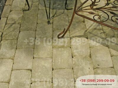 Тротуарная плитка Кирпич Большой Антик 240х160 Горчичныйфото 1