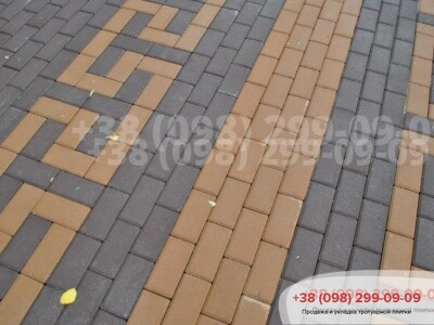 Тротуарная плитка Кирпич  Коричневаяфото 12