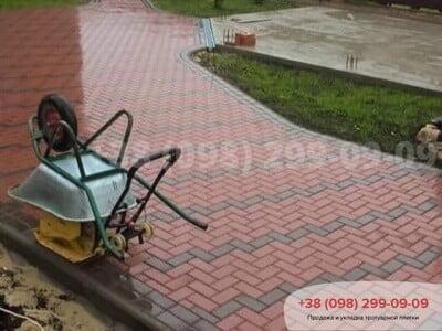 Тротуарная плитка Кирпич  Коричневаяфото 29