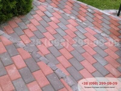 Тротуарная плитка Кирпич  Коричневаяфото 30