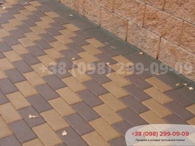 Тротуарная плитка Кирпич  Коричневаяфото 1