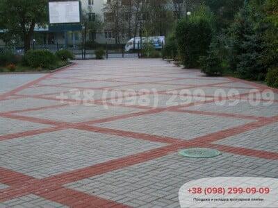 Тротуарная плитка Кирпич Краснаяфото 6