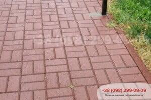 Красный Тротуарная плитка Кирпич Красная