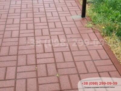 Тротуарная плитка Кирпич Краснаяфото 1