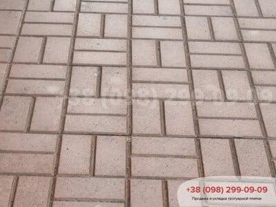 Тротуарная плитка Кирпич Персикфото 16